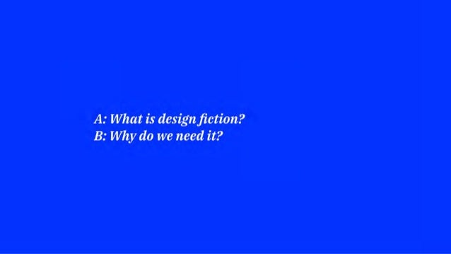 REFLECTION THROUGH ACTION We need interdisciplinarity, including designers, to create potential futures and alternatives, ...