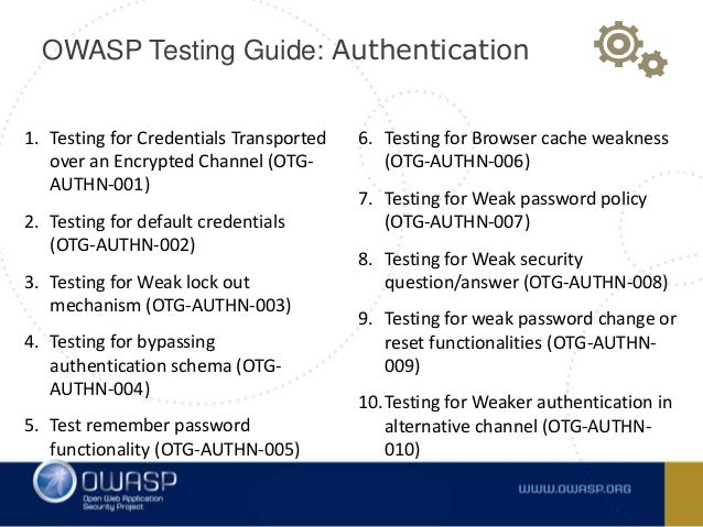 A2 - broken authentication and session management(OWASP