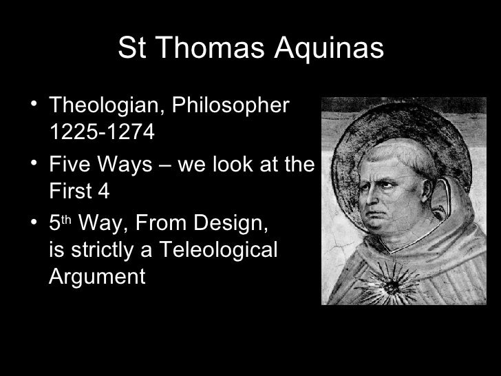 Thomas aquinas cosmological argument