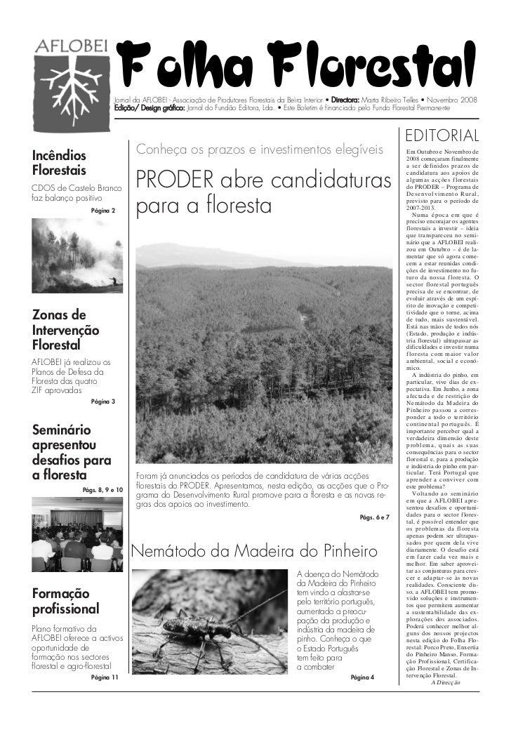 Folha Florestal                         Jornal da AFLOBEI - Associação de Produtores Florestais da Beira Interior • Direct...