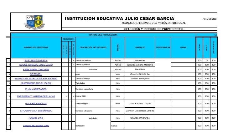 INSTITUCION EDUCATIVA JULIO CESAR GARCIA                                                                                  ...