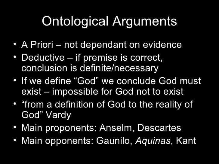 a ontological ontological arguments