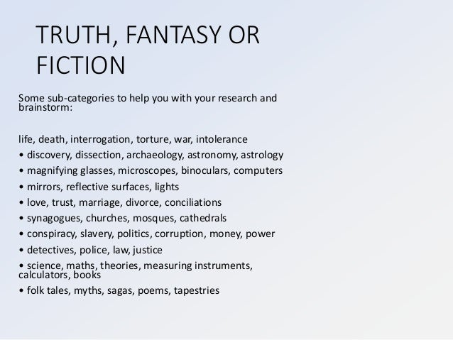 A2 truth--fantasy-or-fiction-2016