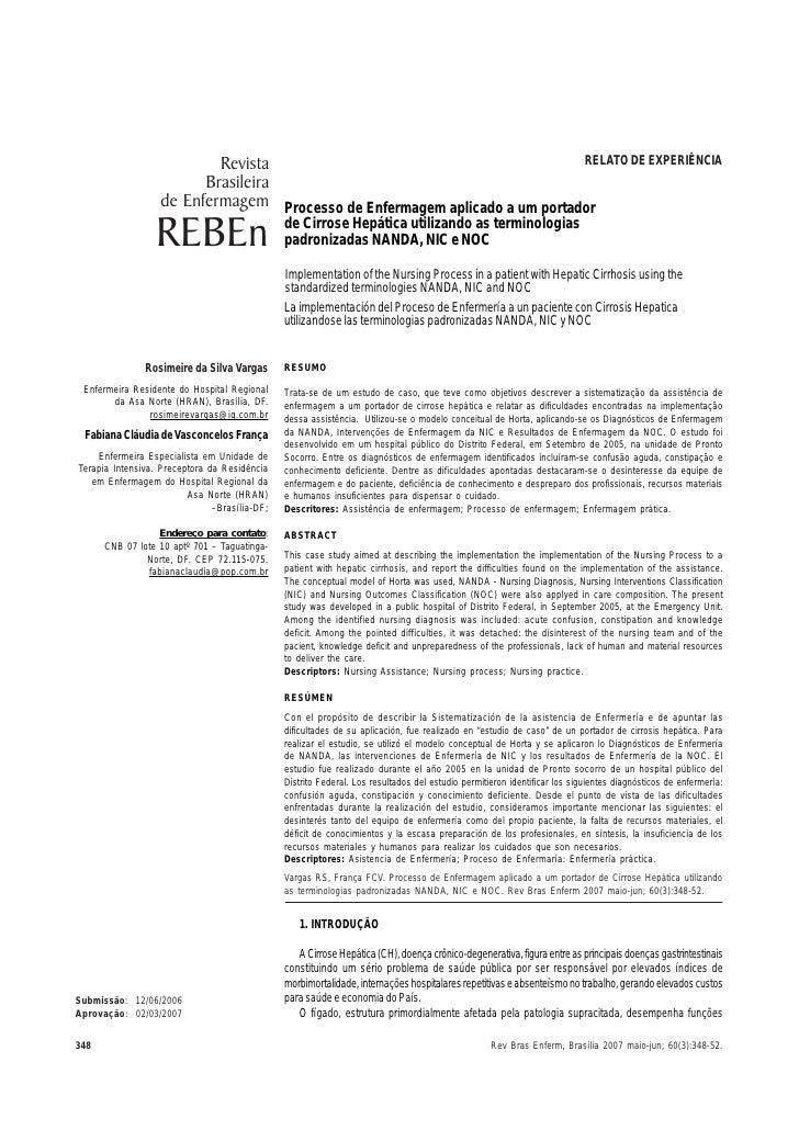 Revista                                          RELATO DE EXPERIÊNCIA                         Brasileira                 ...