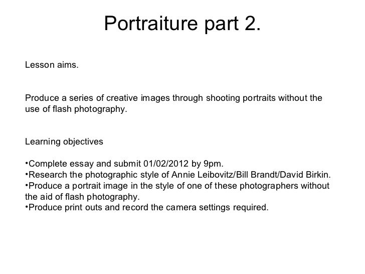 a2 photography essay examples