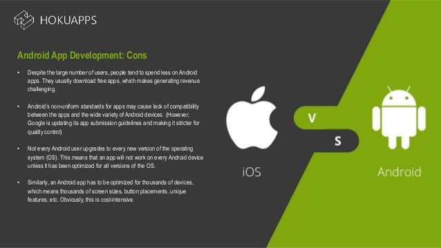 A 2018 outlook i os vs  android app development