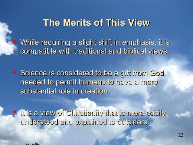 The Merits of This ViewThe Merits of This View  While requiring a slight shift in emphasis, it isWhile requiring a slight...
