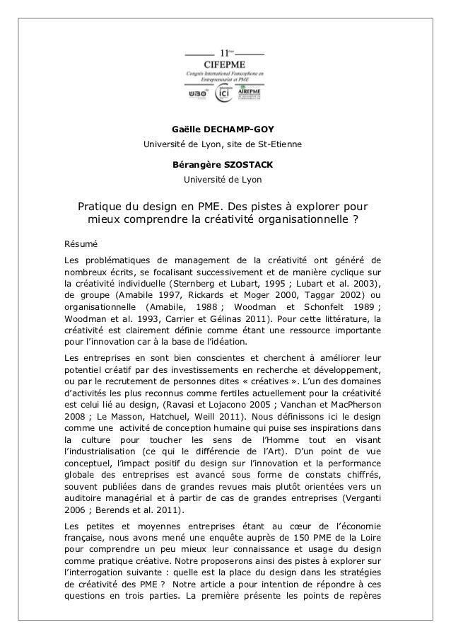 Gaëlle DECHAMP-GOY                  Université de Lyon, site de St-Etienne                         Bérangère SZOSTACK     ...