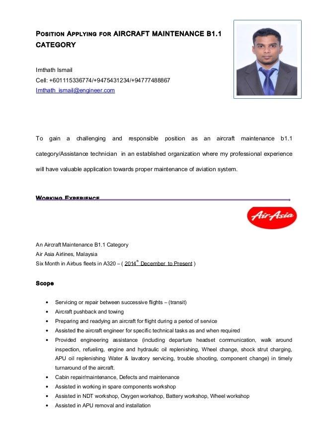 imthath ismail aircraft maintenance b1 1 category