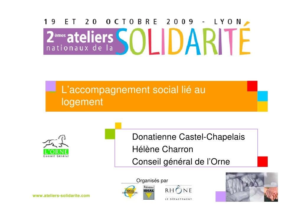 L'accompagnement social lié au              logement                                 Donatienne Castel-Chapelais          ...