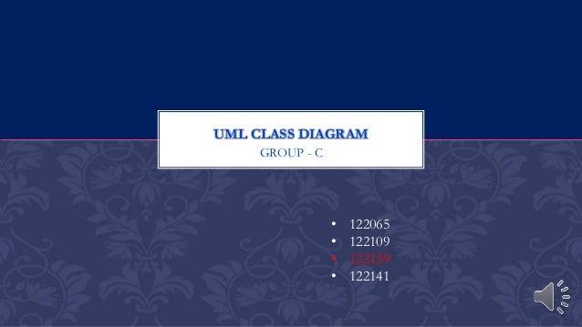 UML Class Diagram G-3-122139