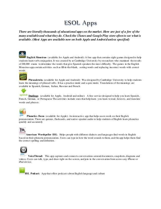 ESOL Apps