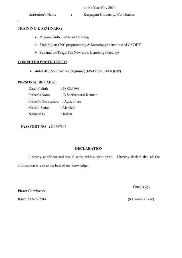 cnc programmer resume. s umashankar resume new .