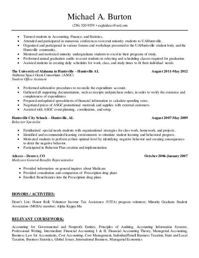 burton online resume