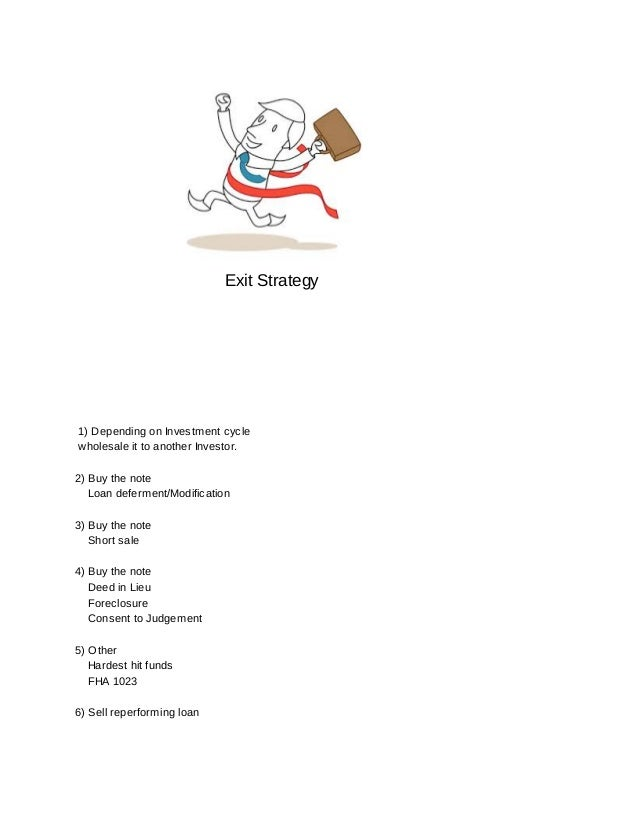 Ex. Summary Note Asset Deals LLC