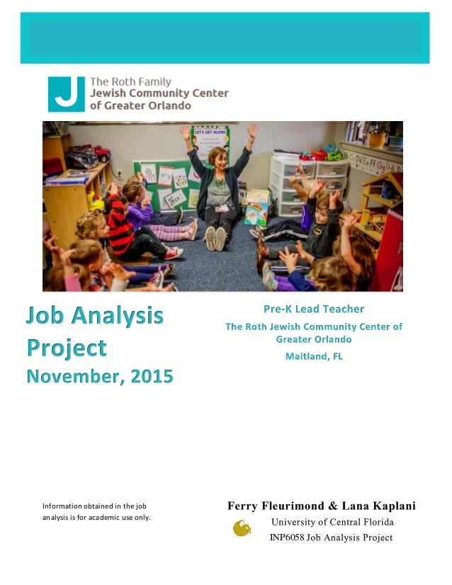 Information obtained in the job analysis is for academic use only. INP6058