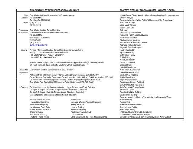 G Whaley Bio & Cont Ed Kill List 01.30.2015