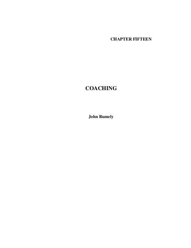 CHAPTER FIFTEEN COACHING John Rumely