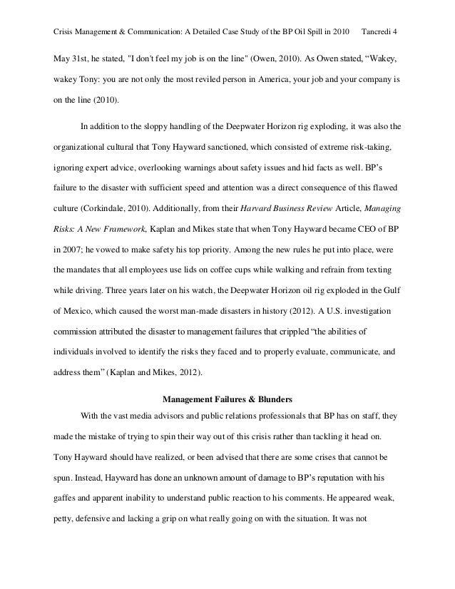 crisis management paper pdf crisis management