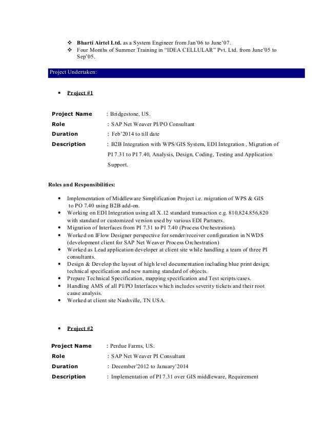 Resume Sap Pi