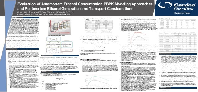 Evaluation of Antemortem Ethanol Concentration PBPK Modeling Approaches and Postmortem Ethanol Generation and Transport Co...