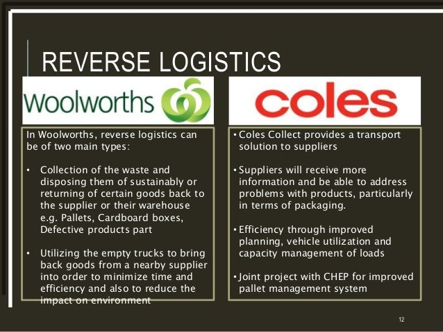woolworths value chain The importance of supply chain management in competitive business: between activities in their value chain chain management, woolworths.