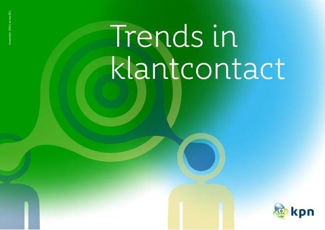 Trends in klantcontact december2014|versie001