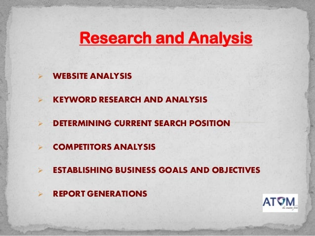 Search Engine Optimization and Online Marketing Process Slide 2