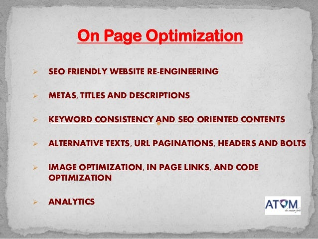 Search Engine Optimization and Online Marketing Process Slide 3