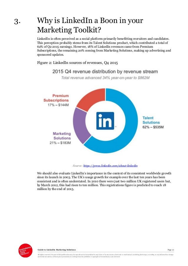Guide to LinkedIn Marketing Solutions Page 10 All rights reserved. No part of this publication may be reproduced or transm...