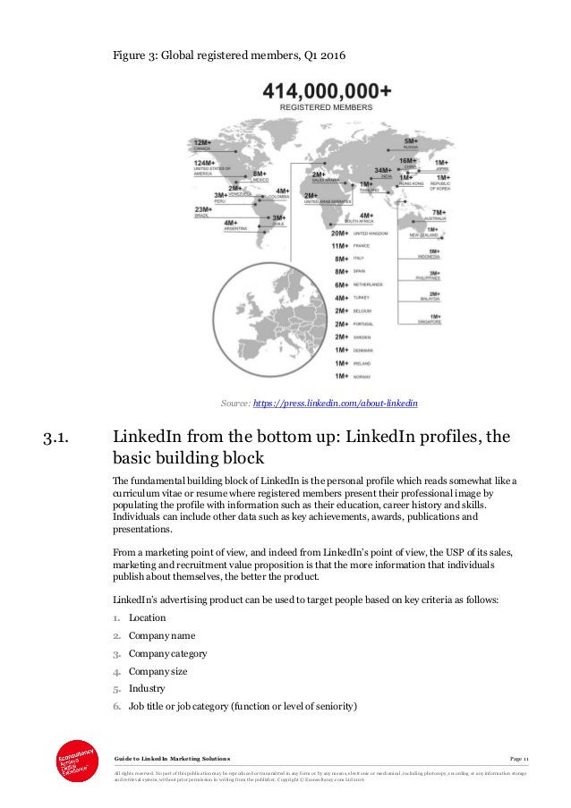 Guide to LinkedIn Marketing Solutions Page 11 All rights reserved. No part of this publication may be reproduced or transm...