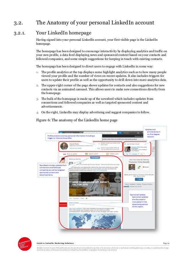 Guide to LinkedIn Marketing Solutions Page 19 All rights reserved. No part of this publication may be reproduced or transm...