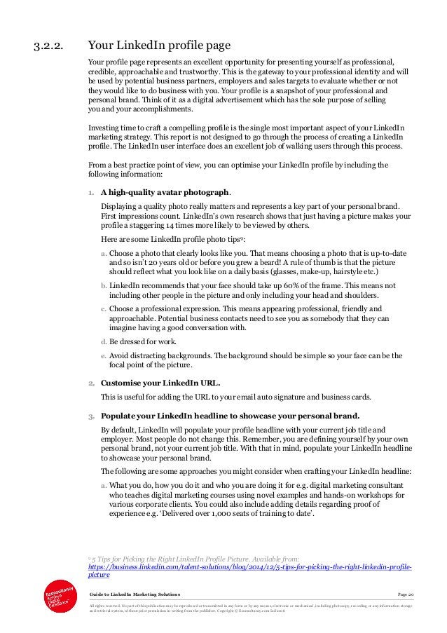 Guide to LinkedIn Marketing Solutions Page 20 All rights reserved. No part of this publication may be reproduced or transm...