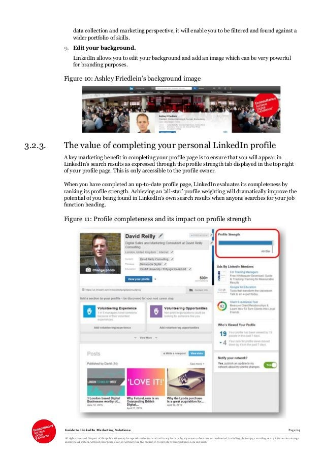 Guide to LinkedIn Marketing Solutions Page 24 All rights reserved. No part of this publication may be reproduced or transm...