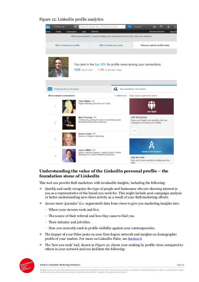 Guide to LinkedIn Marketing Solutions Page 26 All rights reserved. No part of this publication may be reproduced or transm...