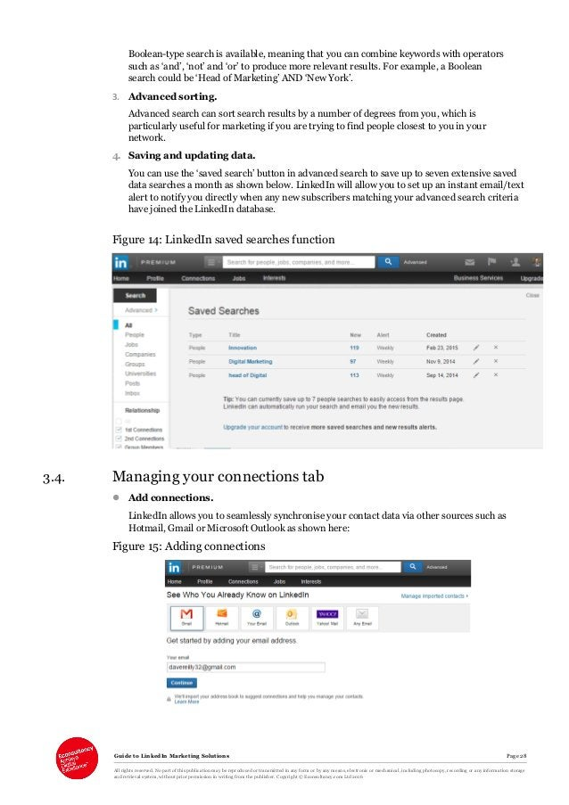 Guide to LinkedIn Marketing Solutions Page 28 All rights reserved. No part of this publication may be reproduced or transm...