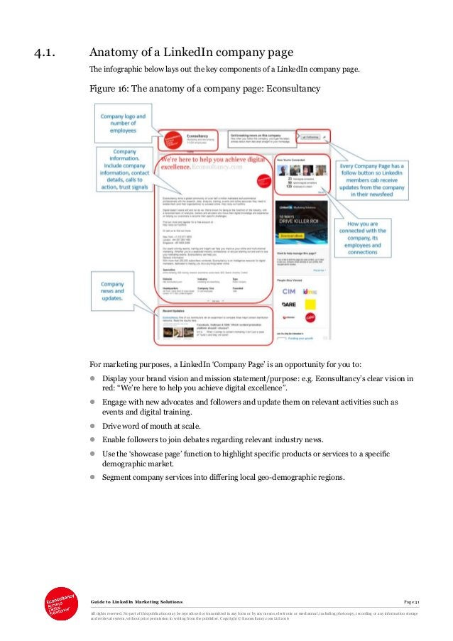 Guide to LinkedIn Marketing Solutions Page 31 All rights reserved. No part of this publication may be reproduced or transm...