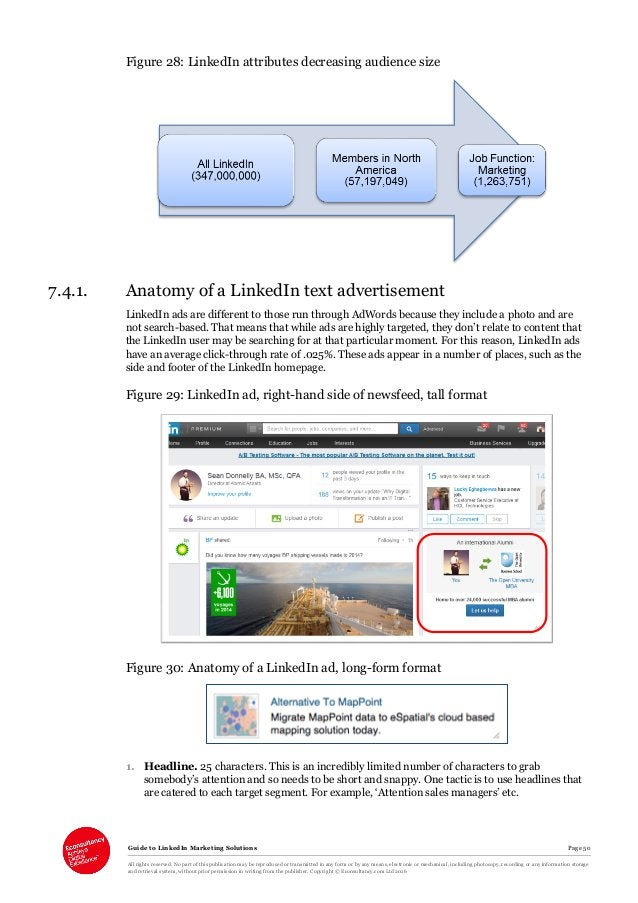 Guide to LinkedIn Marketing Solutions Page 50 All rights reserved. No part of this publication may be reproduced or transm...
