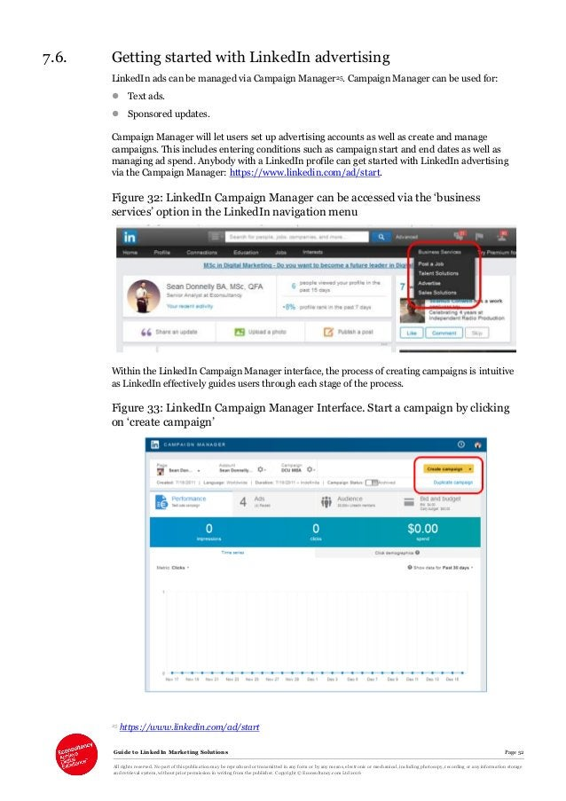 Guide to LinkedIn Marketing Solutions Page 52 All rights reserved. No part of this publication may be reproduced or transm...