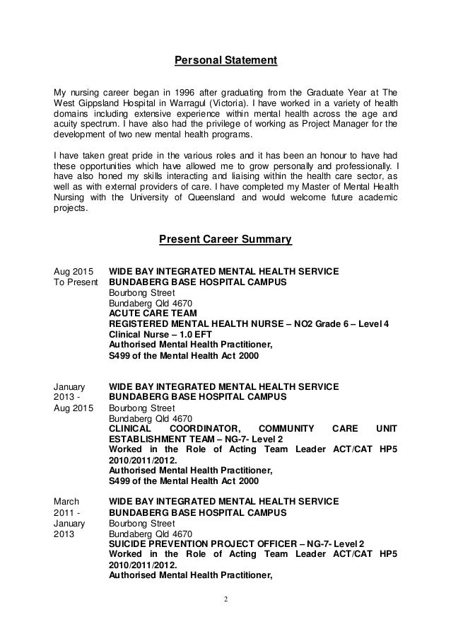 health care assistant personal statement