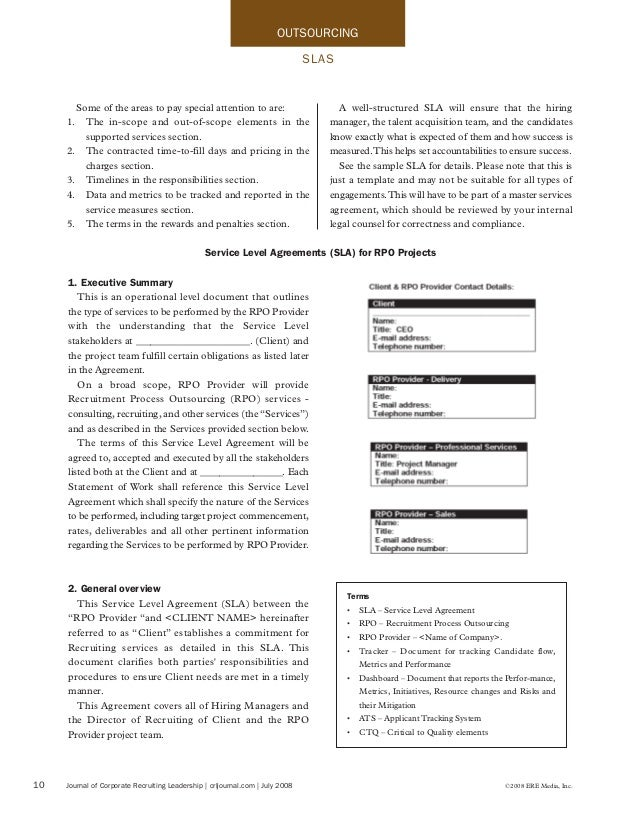 The Importance Of An Sla In Rpo