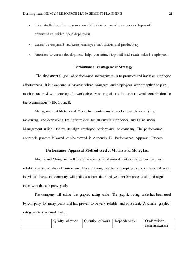 Hrm Planning Final Paperrv2