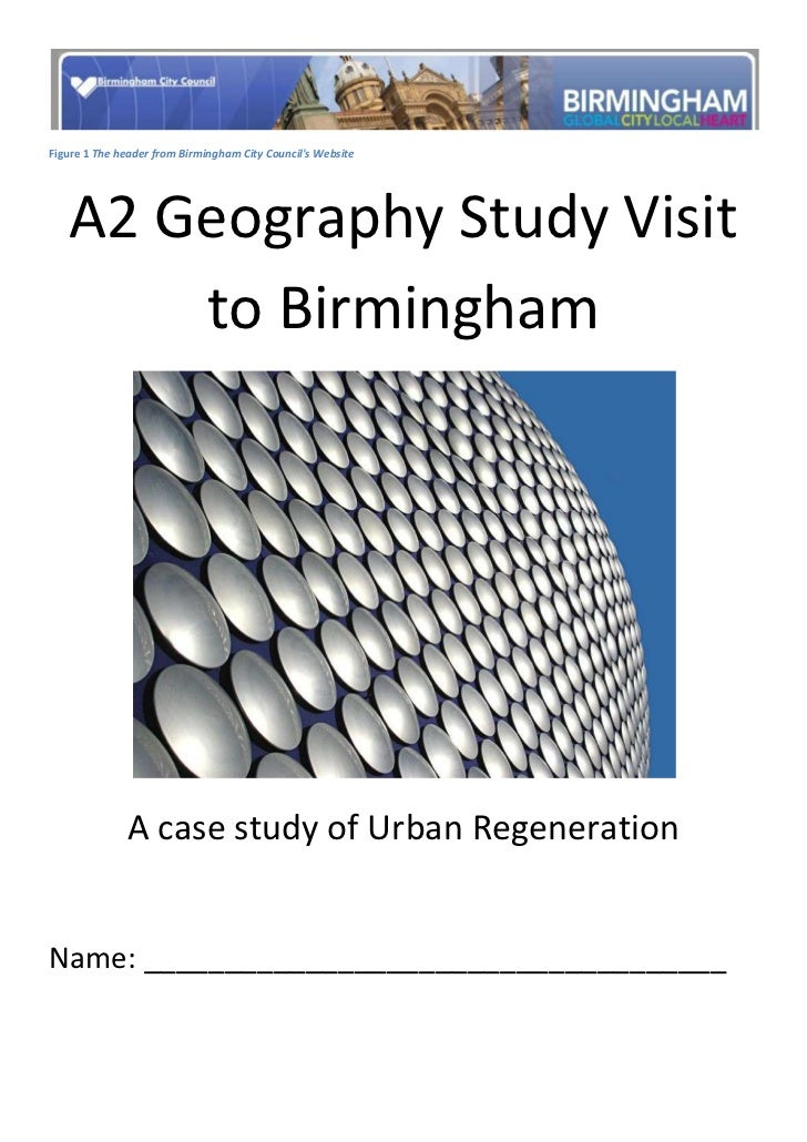 Figure  SEQ Figure * ARABIC 1 The header from Birmingham City Council's Website<br />A2 Geography Study Visit to Birmingha...