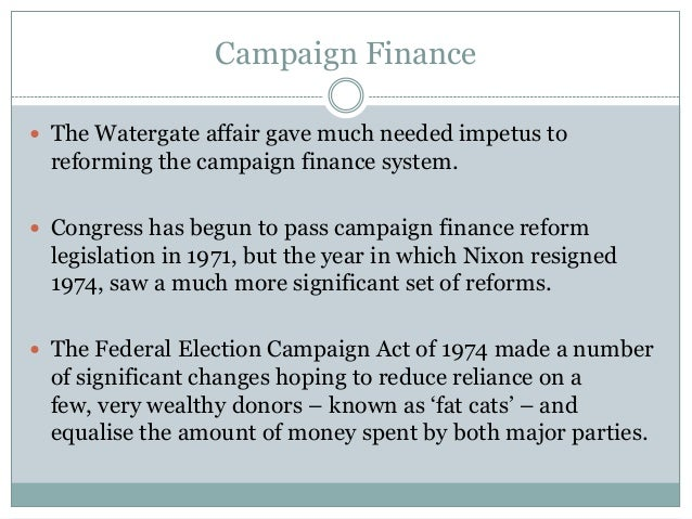 campaign financing essay Develop arguments for and against campaign finance reform and attempts to reform campaign financing often this independent campaign finance web site.