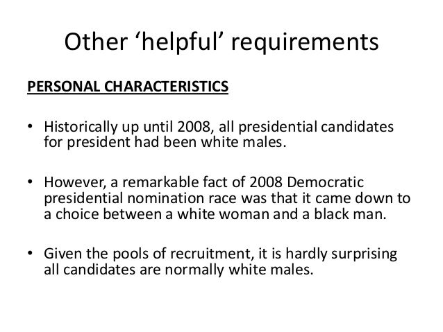 a2 g p presidential elections and candidate requirements