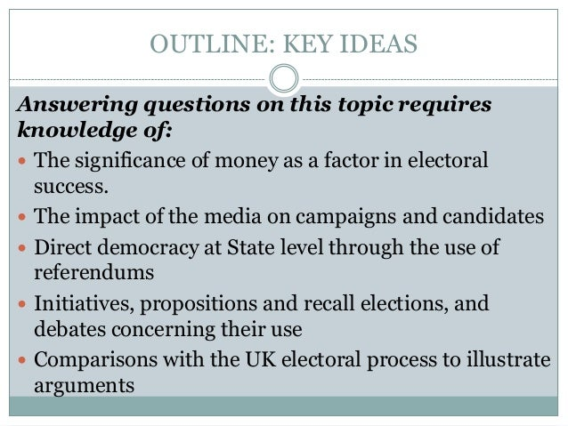 electoral college outline The current workings of the electoral college are the result of both design and   each state is allocated a number of electors equal to the number of its us.