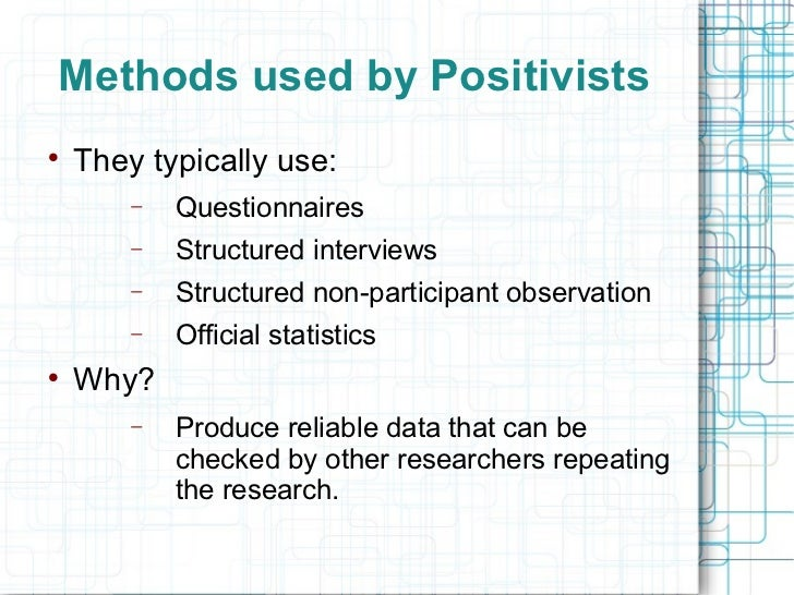 Positivist quantitative research