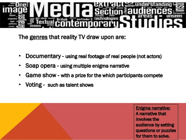 effect of reality tv essay Reality television shows that include pranks essay june 2015 reality television is a type of television programming that is generally unscripted and unrehearsed.