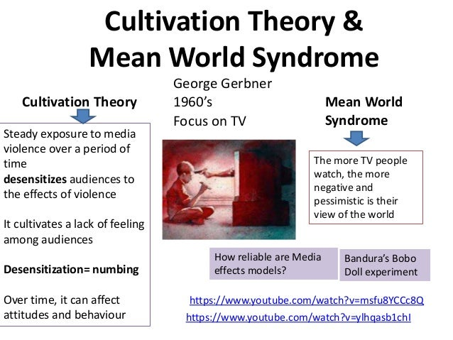 cultivation theory and the mean world syndrome by george gerbner All you need to know about cultivation theory developed by professor george gerbner from annenberg school of mean world syndrome in the cultivation theory.