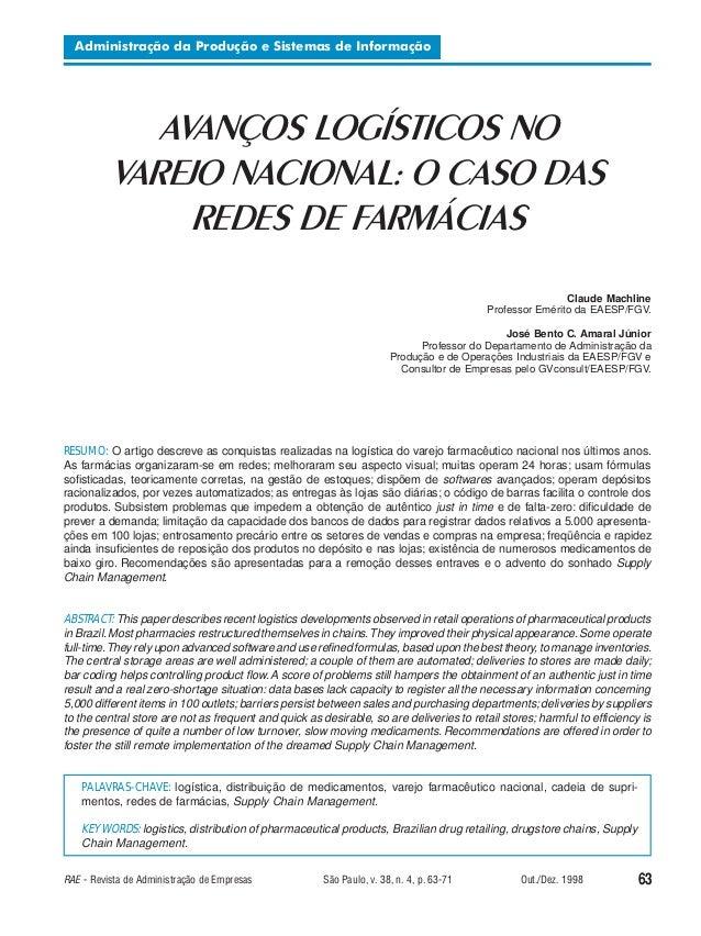 Administração da Produção e Sistemas de Informação  AVANÇOS LOGÍSTICOS NO VAREJO NACIONAL  AVANÇOS LOGÍSTICOS NO VAREJO NA...